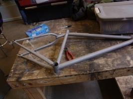 Frame after sandblasting