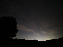 Light Polution over Lake Sonoma